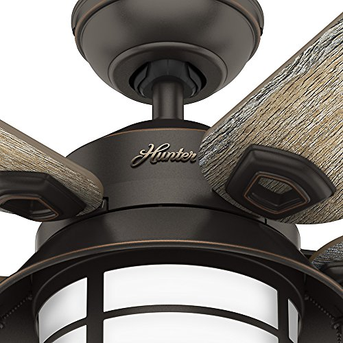 """Hunter Isleworth 54 Onyx Bengal Ceiling Fan With Light At: Hunter 59273 Key Biscayne 54"""" Ceiling Fan With Light"""