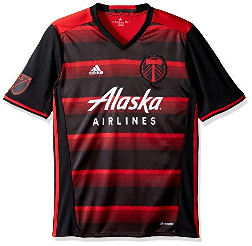 MLS Portland Timbers Youth Unisex Replica Wordmark s/jersey, Red, Large
