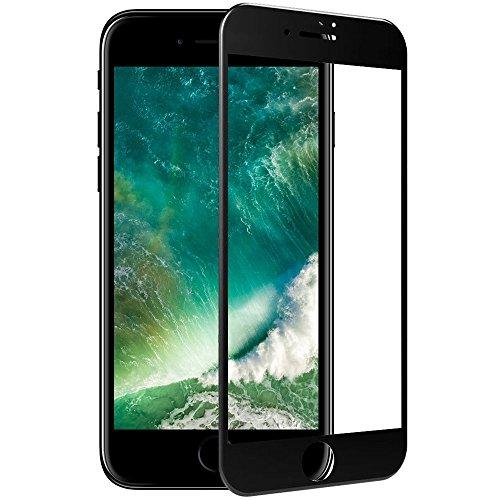 検出する舗装する守るTC JOY iPhone7 強化ガラス保護フィルム 3D曲面加工 全面液晶保護 日本製素材 ブラック