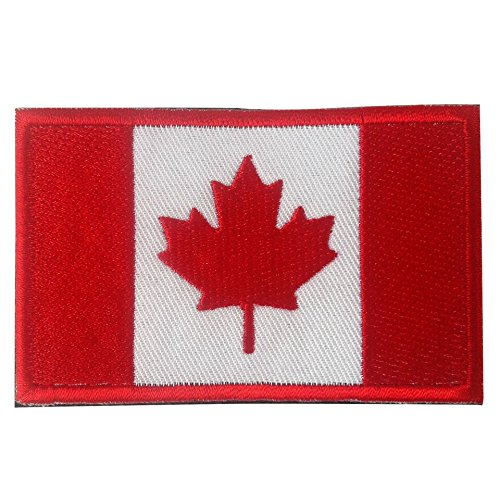 Canada Flag Emblem Morale Patch/Maple Leaf Tactical National Olympic Patch with Hook & Loop for Molle Backpacks, Operator Hats, and Uniforms (Canadian, 2