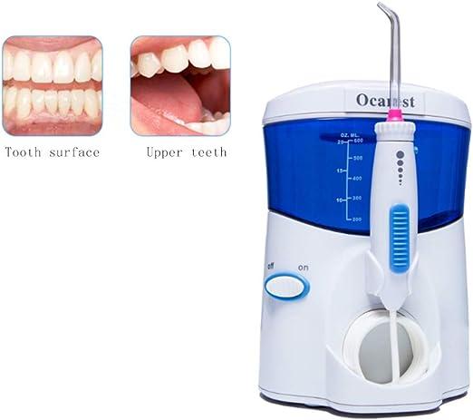 WFWPY Irrigador Dental eléctrico Purificador de Agua Dental Limpiador Dental Depósito de Agua de Gran Capacidad de 600 ml y 9 boquillas multifuncionales IPX7 de ...