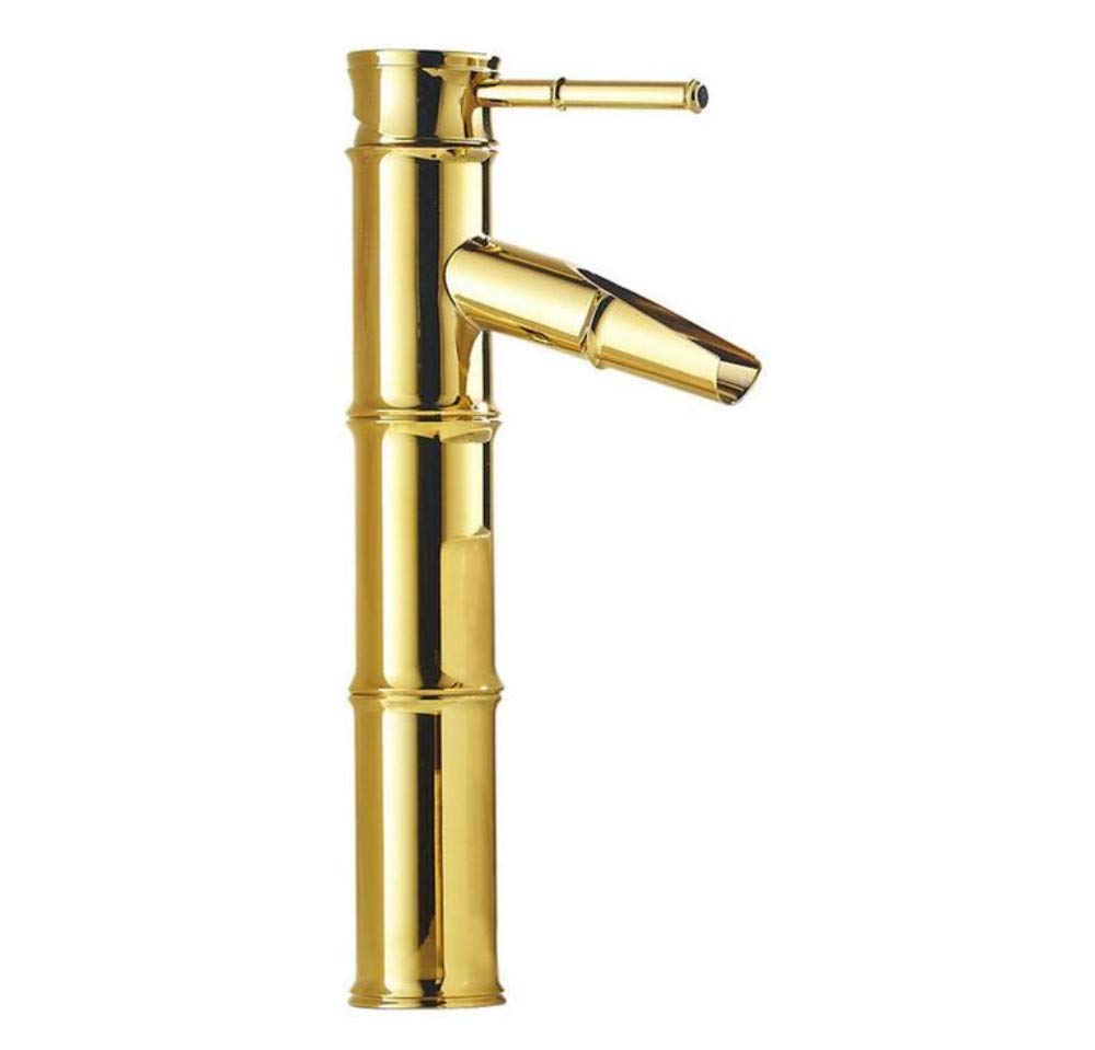 Grifo De Latón De La Vendimia Antique Faucet Oro Faucet Faucet Oro-Plated Antique Vendimia Faucet Faucet Bamboo Faupet Art Basin Faucet 66593d