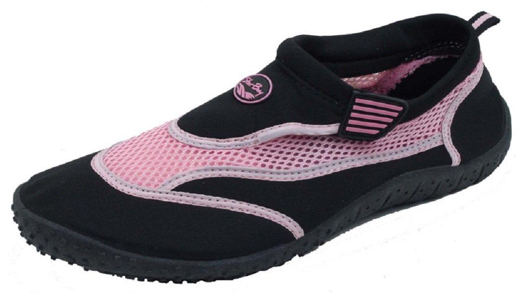 Starbay New Women's Slip-On Water Shoes Velcro Strap Black 8 B(M) US