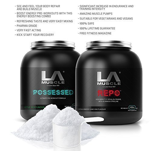 LA Muscle Pre & Post Workout Amazon Special; Contains Pharma Grade BCAAs; THE most powerful pre-workout supplements, Pharma Grade, safe & natural gym formula for explosive workouts and no come-downs after, delicious tasting flavour, instant mixing, see its effects in just ONE DOSE, 100% Lifetime Guarantee, Rapid Free Delivery; ORDER NOW!-Special Amazon Price - Buy Now Before Prices go back UP!!