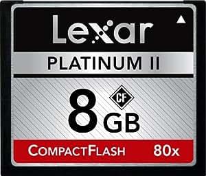 Lexar Platinum II 8 GB  80x CompactFlash Memory Card LCF8GBBSBNA080