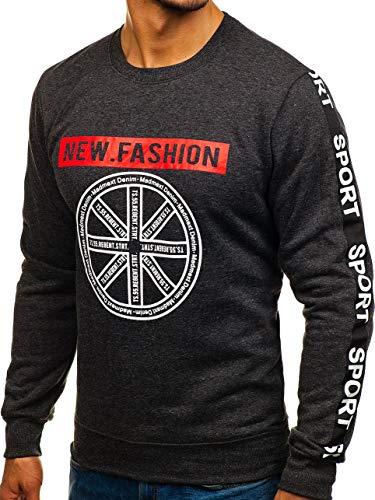 Travers Col Bolf 8689 Style Rond À Sans Sweatshirt Inséré 1a1 Imprimé Noir Homme La Le Capuche Sportif Tête BY17Bq