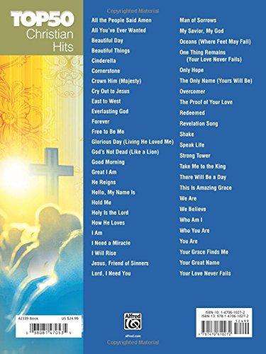 Top 50 Christian Hits Easy Piano Carol Tornquist 9781470610272