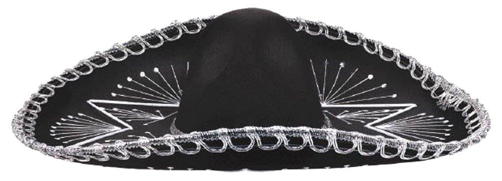 Amscan Cinco De Mayo Fiesta Black & White Mariachi Hat Party Supplies (3), 3 Pieces