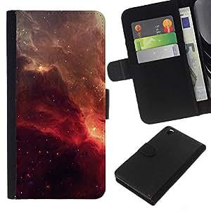 Stuss Case / Funda Carcasa PU de Cuero - Red Galaxy - HTC DESIRE 816