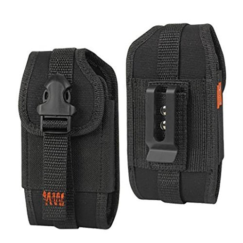 For Samsung Galaxy S9 Plus / S8 Plus Reiko Black Rugged Holster Pouch Case W/ Card Pocket (Plus Size Fits With Protector Case On) and Zoomazig Stylus