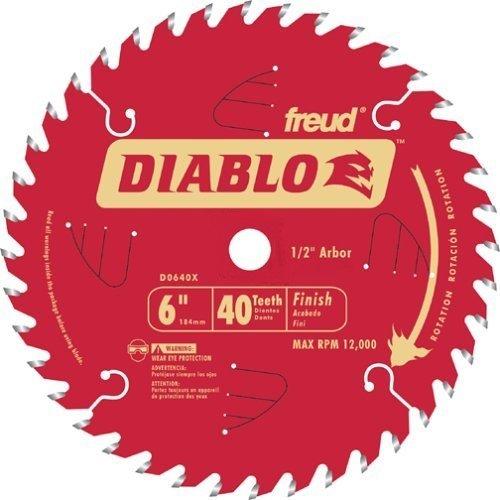 Freud D0640X Diablo 6-inch 40 Tooth ATB Precision Finishing Saw Blades, 5-Pack