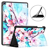 Soke Galaxy Tab A 10.1 Case 2019, Premium Shock Proof Stand Folio Case,Multi- Viewing Angles, Soft TPU Back Cover for Samsung Galaxy Tab A 10.1 inch Tablet [SM-T510/T515],Peach Blossom
