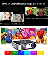 Smart Android 6.0 Projector, Gzunelic 4000 lumens WiFi 1080p Video Projector, LCD LED Full HD Theater Proyector Bluetooth, Adopt 6 Primary Colors Matrix HD Imaging Technology from Guangzhou Guoen Commercial co.,Ltd