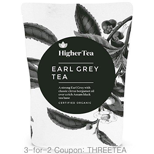 Russian Earl Grey Tea (Earl Grey Tea 3 oz, By Higher Tea (40 Cups) Certified Organic Premium Loose Leaf)