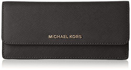 Michael Kors Jet Set Travel Wallet in - Flat Kors Black Michael