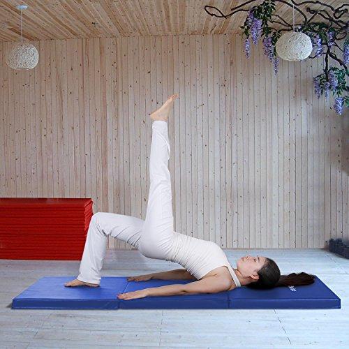 WolfWise 6'x4'/ 6'x2' Gymnastic Mats Folding Exercise Mat