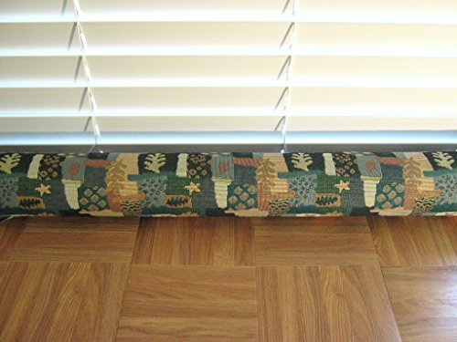 Door Draft Stopper Fabric Only Heavy Weight Upholstery Fabric Green Blue Tan & Beige Custom Made 24