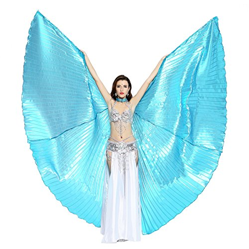 [Dance Fairy Belly Dance Isis Wings,Lake Blue] (Tribal Costumes Of India)