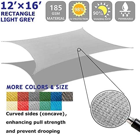 Shade Beyond 12'x16' Sun Shade Sail Rectangle Canopy Sail Sunshade UV Block