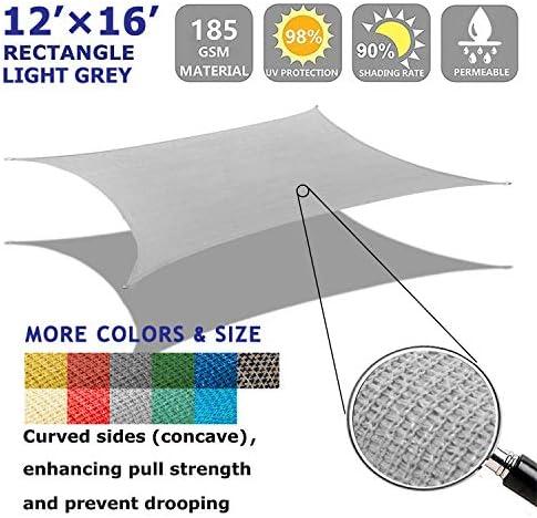 Shade Beyond 12'x16' Sun Shade Sail Rectangle Canopy Sail Sunshade UV Block