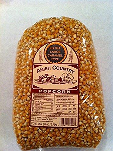 Amish Country Popcorn Extra Large Yellow Large 6 Pound Bag (Lb 6 Bag)