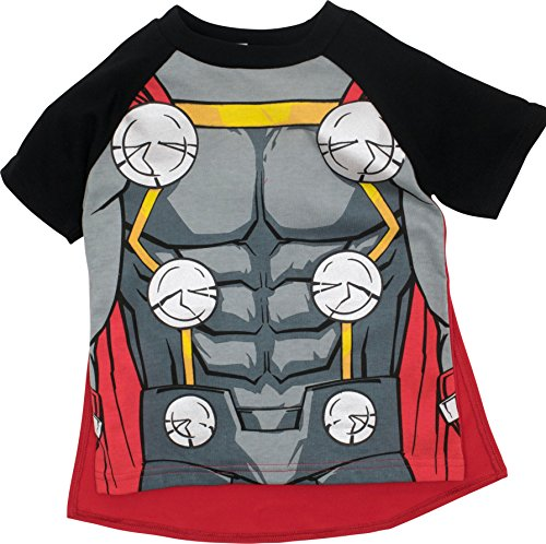 Marvel Avengers Thor Toddler Boys' Costume Shirt With Cape, Grey (60's Costumes For Toddlers)
