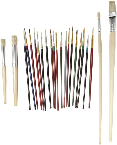 Sax Slightly Imperfect Quality Brush - Assorted Sizes - Set of 42 - Assorted Colors by Sax