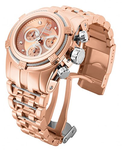 Invicta Women's 14610 Jason Taylor Quartz Chronograph Rose Gold Dial Watch
