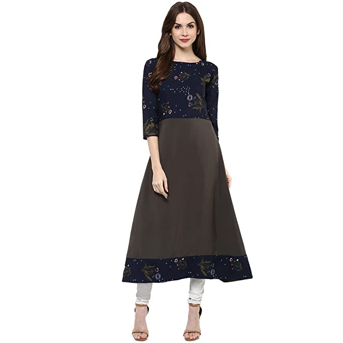 ZIYAA Women's A-Line Kurta Women's Kurtas & Kurtis at amazon