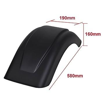 Color de Negro Material de Polipropileno 190x580x160 mm Festnight Guardabarros para Remolques Juego de 2