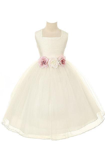 Amazon kids dream dupioni silk flower girl dress white 8 kids dream dupioni silk flower girl dress white 8 mightylinksfo