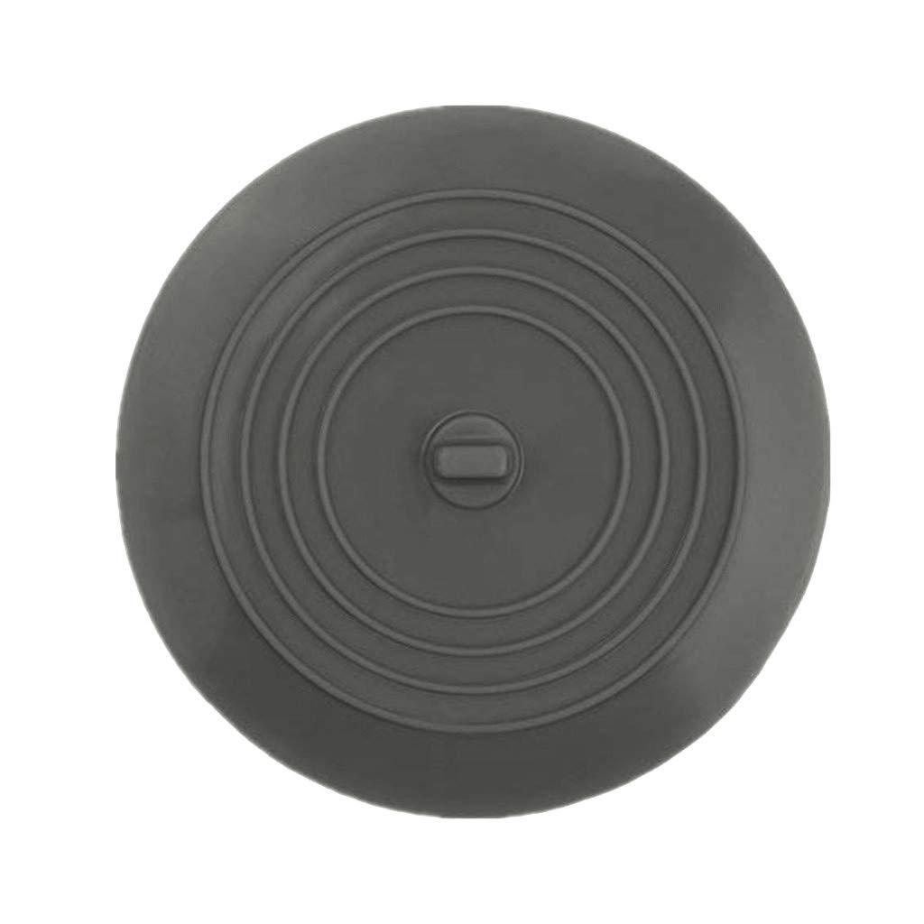 Botrong Silicone Bathtub Stopper Sinks Hair Flat Cover Tub Drain Plug (Gray)