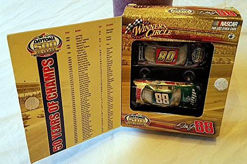 2008 Dale Earnhardt Jr #88 AMP Energy Green White Chevy Impala SS 1/64 Scale Car & 50th Running of Daytona 500 Commemorative 1/64th Scale Car Box Set With Past 50 Year Winners Flap Insert Winners Circle ()