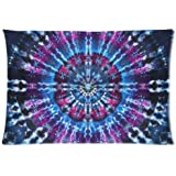 Popular Tie Dye Pattern Custom Zippered Rectangle Pillow Cases 20x30 inches(Two sides)