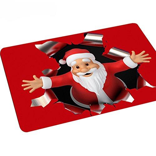 Academyus Christmas Style Santa Claus Non-Slip Doormat Kitchen Bathroom Carpet 40 x 60cm (6#)