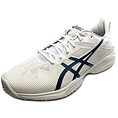 Asics Gel Solution Speed 3 Grass Men's Tennis Shoe White/Blue/Silver (10) Manchester sale online cheap for cheap fashionable cheap price free shipping cheap price r5dxWkl