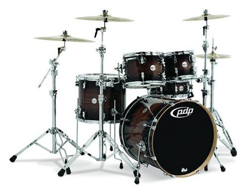 Pacific by DW 5-Piece Concept Maple Exotic Shell Pack (Charcoal Burst over (Custom 5 Piece Standard Drum)