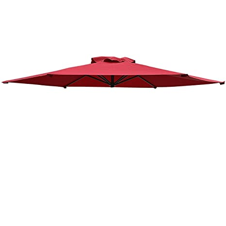 BenefitUSA Patio Replacement Canopy 8.2ft 6 Rib (Burgundy) Umbrella Cover
