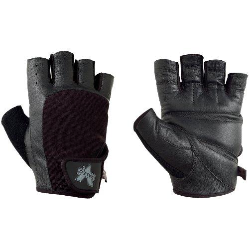 Valeo Industrial V335 Pro-Material Handling/Competition Fingerless Lifting Gloves, VA5149, Pair, Black, 2XL