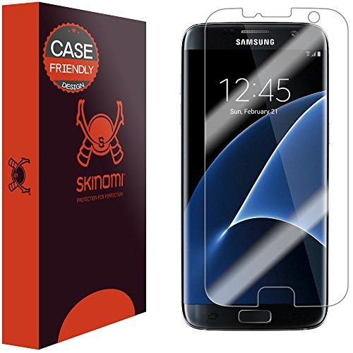 Galaxy S7 Edge Screen Protector, Skinomi TechSkin (Updated Version)(Case Friendly) Full Coverage Screen Protector for Samsung Galaxy S7 Edge Clear HD Anti-Bubble Film
