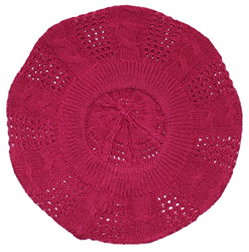 Ted and Jack - Lightweight Knit Slouchy Beret (Cherry)