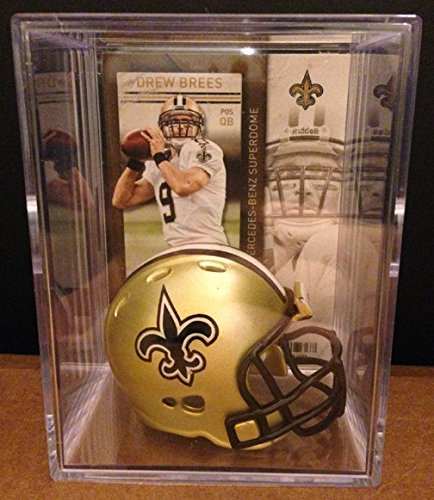 New Orleans Saints NFL Helmet Shadowbox w/ Drew Brees card