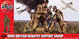 Airfix - Kit de modelismo, figuras WW.11 British Infantry Support Set, 1:36 (Hornby A04710)
