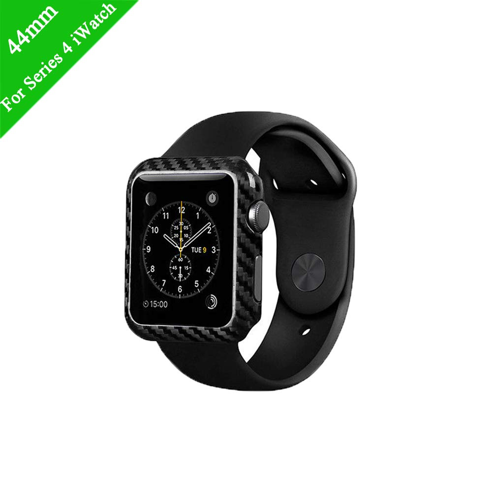 Idealforce Fit for Apple Watch 4 Case,Genuine Carbon Fiber Pattern Protector for iWatch Series 4 40mm / 44mm (for Series 4 iWatch 44mm) by Idealforce
