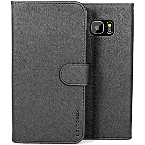 Galaxy S7 Edge Case, BUDDIBOX [Wallet Case] Premium PU Leather Wallet Case with [Kickstand] Card Holder and ID Slot for Samsung Galaxy S7 Edge, (Black) Sales