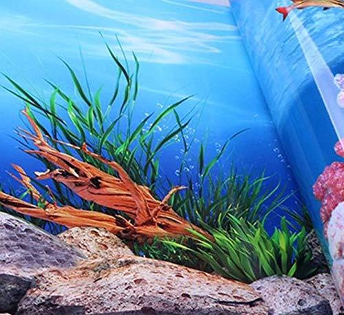 (DiLi - Store- Aquarium Decorations - New PVC Double Sided Aquarium Background Poster Decoration Fish Tank Wall Background Picture Ocean Fish Aquarium Decor 4 Size 1 PCs)