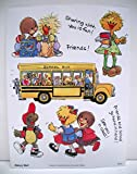 Suzy's Zoo Back to School Multiple Character Sticker 6 inches by 4.5 inches