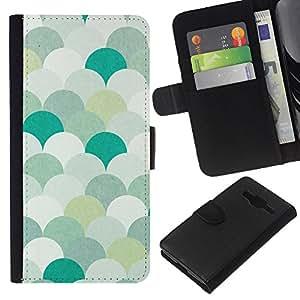All Phone Most Case / Oferta Especial Cáscara Funda de cuero Monedero Cubierta de proteccion Caso / Wallet Case for Samsung Galaxy Core Prime // Teal Green White Minimalist Wallpaper