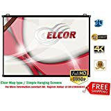 Elcor Pro Map Type Projector Screen (4Ft X 6Ft), HD Quality