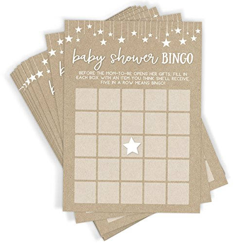 Baby Shower Bingo Game, Set of 50 Cards, Baby Shower Game and Activity, Fun, Unique, and Easy to Play